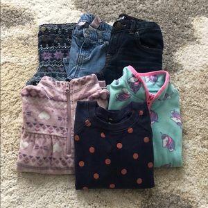 EUC 4T bundle! 3 pants 2 fleece, 1 sweatshirt